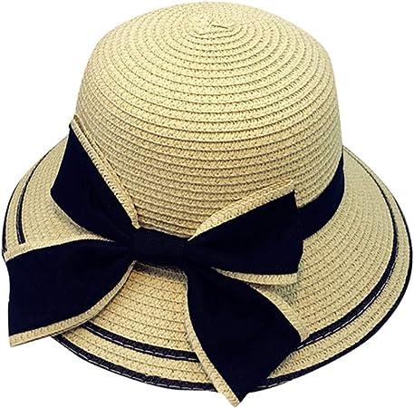 Women Girls Beach Floppy Hat Parent-Child STRW Hat Travel Sun Visor Cap