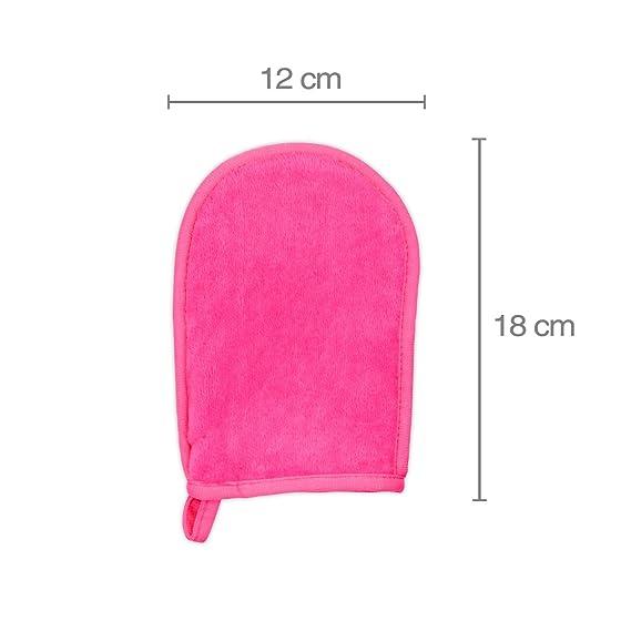 Paquete Doble | 2 GLOVE de Microfibra desmaquillante | Sólo se usa con agua | GLOVE para desmaquillaje | Makeup Eraser | Guante desmaquillantes y limpiadora ...