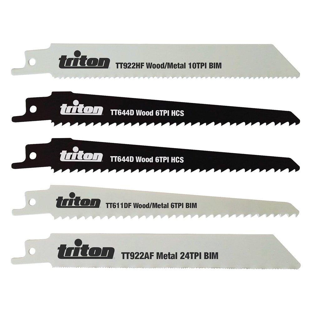 Triton TPTA49954242 Lot de 5 lames de scie sabre