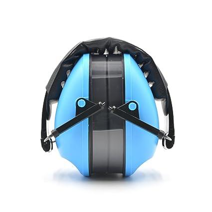 Toennesen Auriculares ajustables Defensas para los oídos Muñequeras para adultos Reductor de ruido para adultos Azul