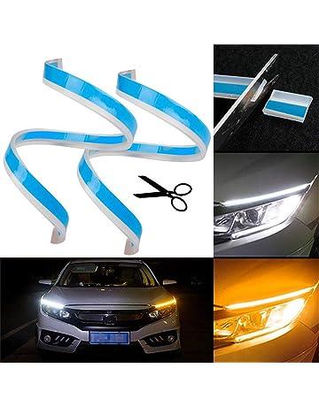 UNHO 2PCS Luces de Circulación Diurna Universal y Impermeable Tiras de Luces LED DRL 12V para