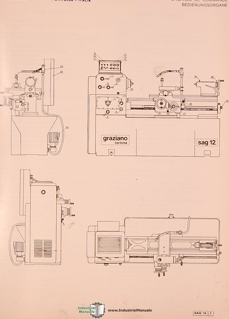 Graziano Sag 12 Wiring Diagram Free Download Lathe French English Italian German Installation