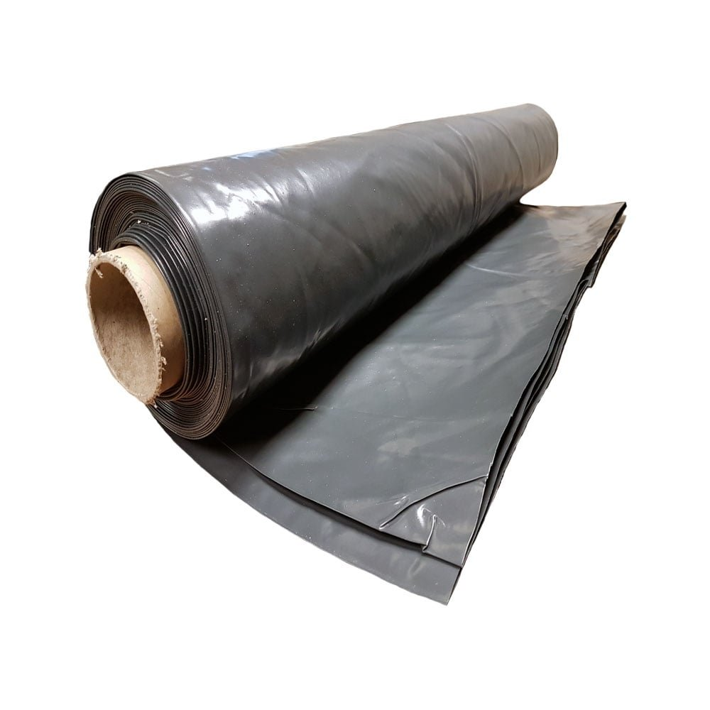 Heavy Duty Black Polythene Plastic sheeting 4M wide DPM rolls 300MU 1200 Gauge 1M X 4M Your Diy Shop