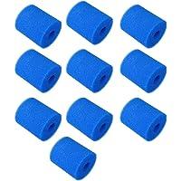 bobotron 10PCS Filter Sponge Vervangingen voor Type H Wasbaar Herbruikbaar Zwembad Filter Schuim Sponge Cartridge