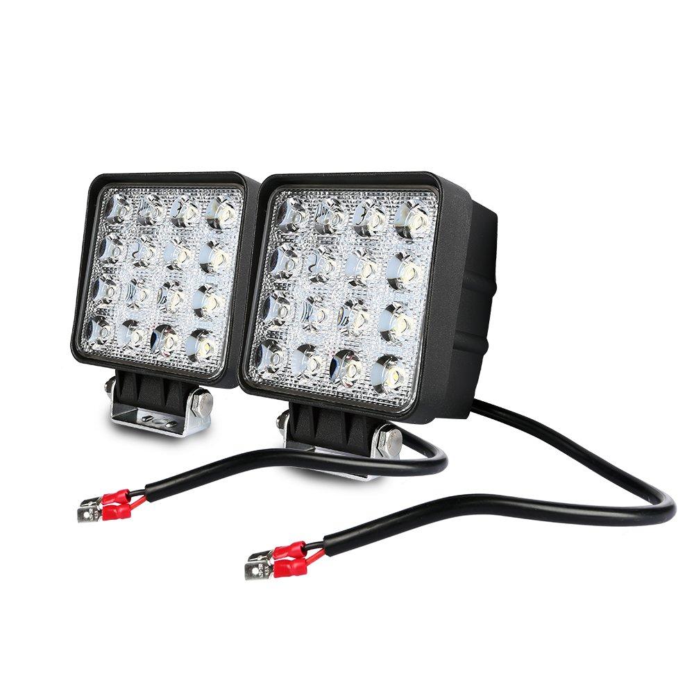 Flutlicht AFTERPARTZ D4 2AFTERPARTZ F1 48W LED Arbeitsscheinwerfer Reflektor Auto Beleuchtung Scheinwerfer Arbeitslicht Flut