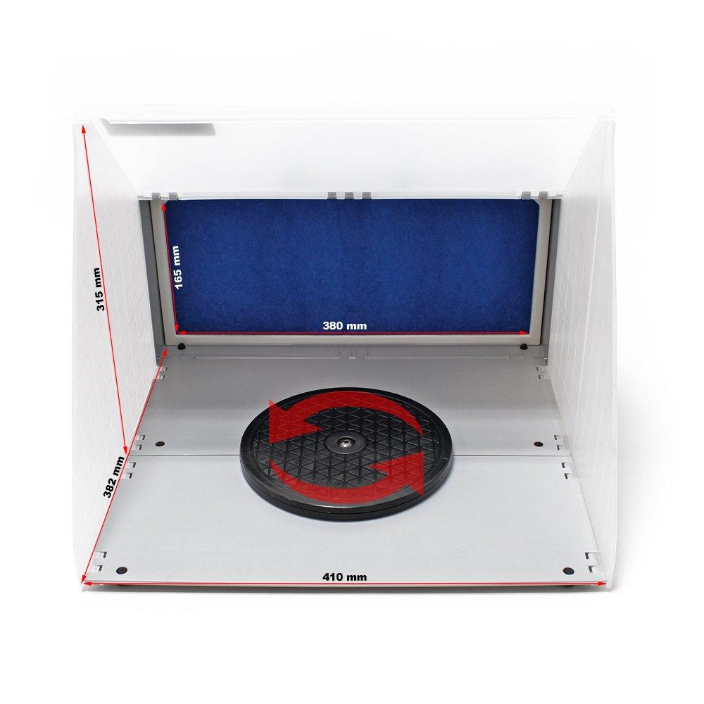 min Filter Farbnebel kombinierbar Zubeh/ör Airbrush Doppel Absauganlage 6 m/³