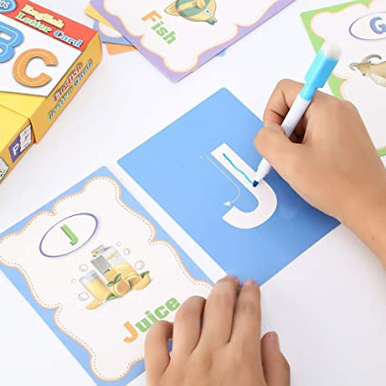 Learning Can Be Fun Flashcards Alphabet and Numbers 1-10 for Kids 65 Cards