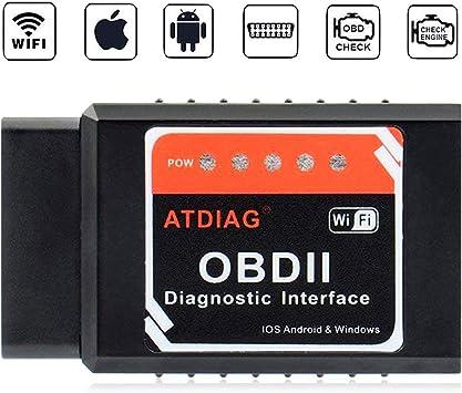 Audew Car WiFi OBDII Reader//ScannerWireless OBD2 Car Code Reader Scan Tool for