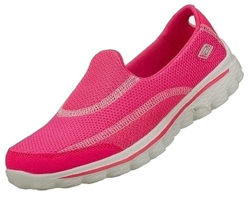 b37a3438c25eb Womens Skechers GOWalk 2, Lightweight, Flexible, Casual Fashion Slip On  Shoes / Trainers: Amazon.co.uk: Shoes & Bags