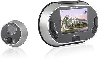 Spioncino digitale con funzione di fotocamera, videocamera e campanello elettronico, angolo di visione di 120°, videocamera DVR con ampio display da 3,5', tecnologia a infrarossi, sensore di movimento e visione notturna, sicurezza garantita 24/24 h, su
