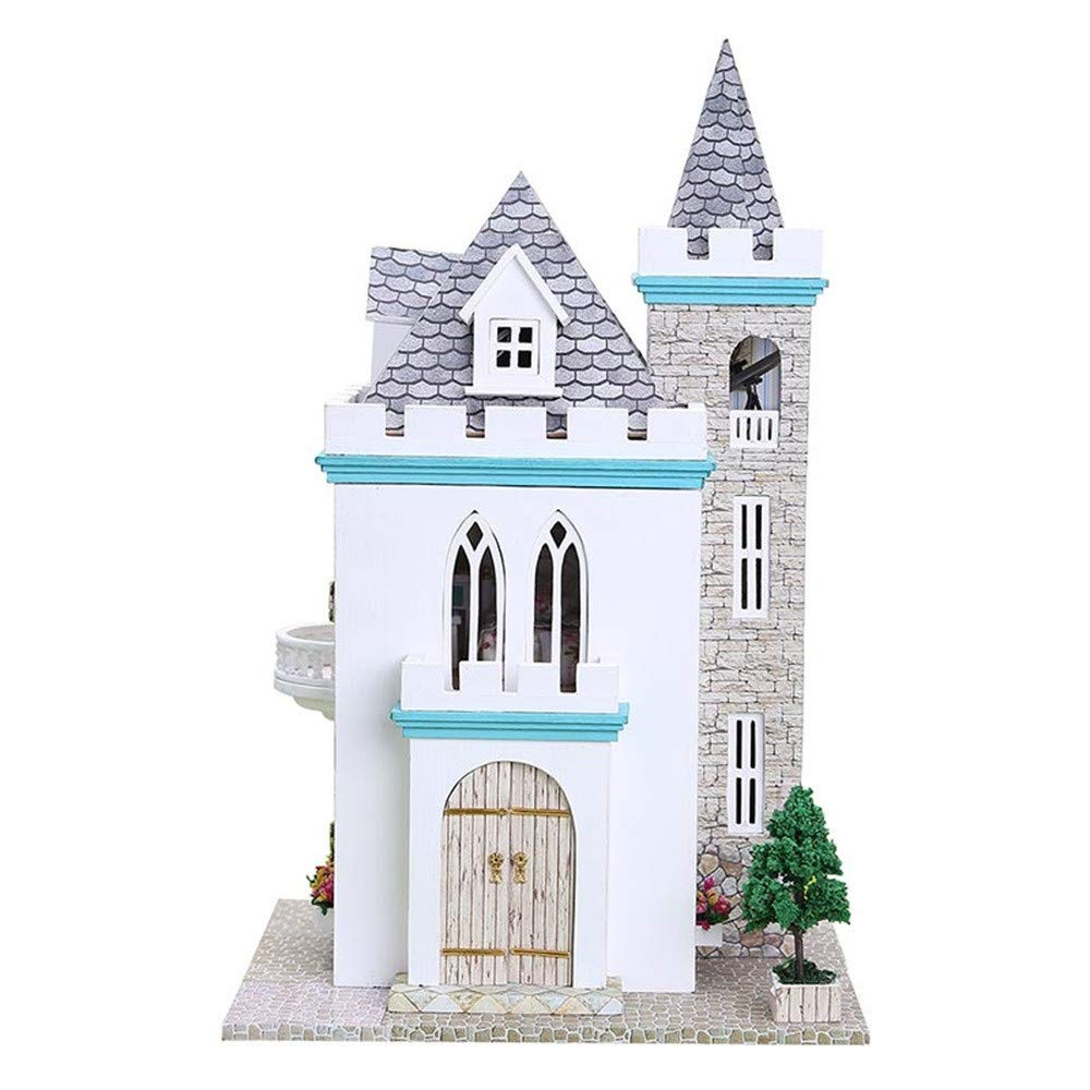 L Jersh  Christmas Toys,DIY Cottage Princess Room Puzzle Handmade Toy 3D Puzzle Wooden DIY Miniature House Furniture LED House Decorate Creative