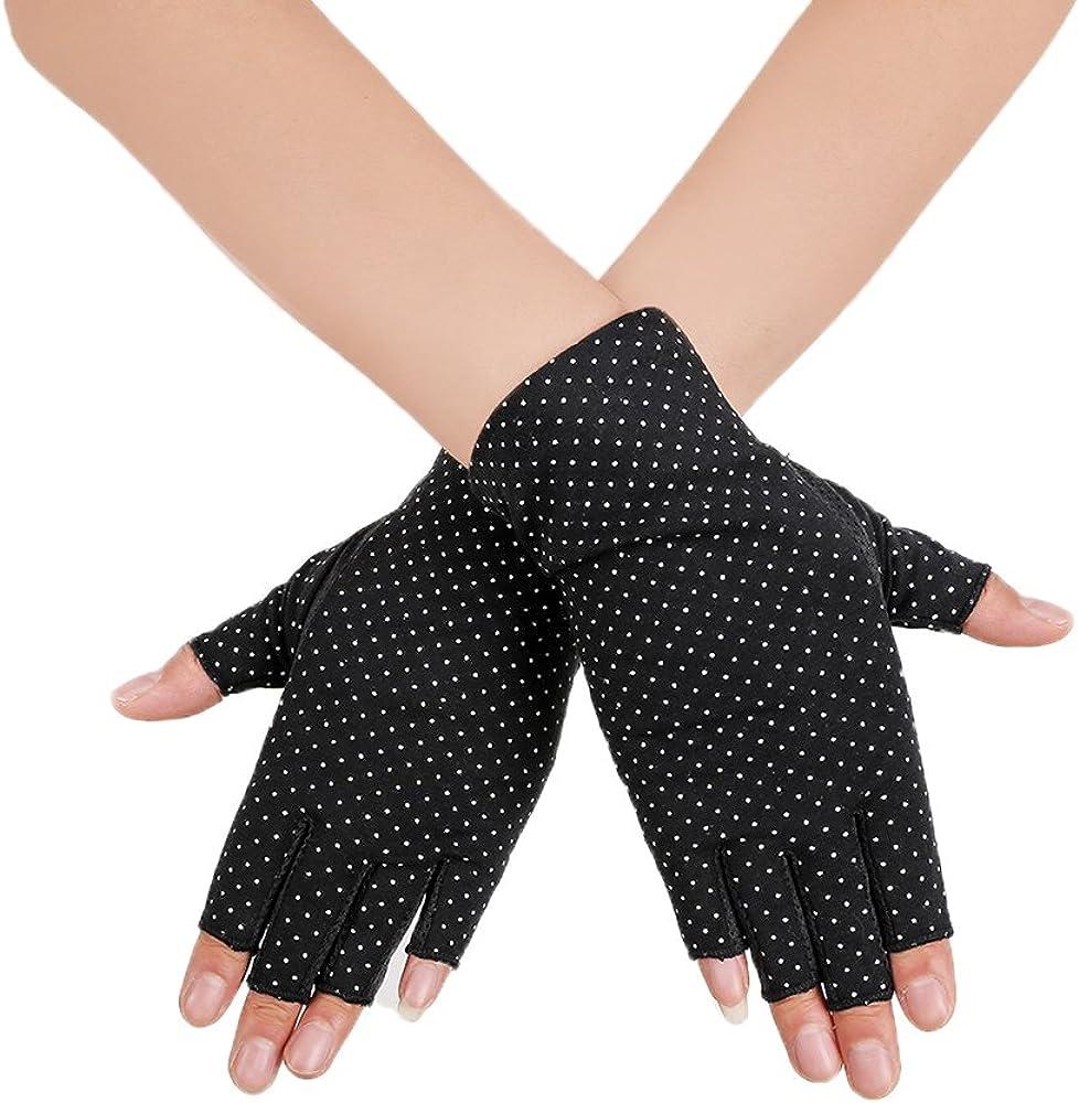 Shanion Cobra-Kai-Denim-Dad Womens UV Mitt Gloves Mens Half Finger Riding Gloves Lightweight Driving Fitness Non-Slip Gloves