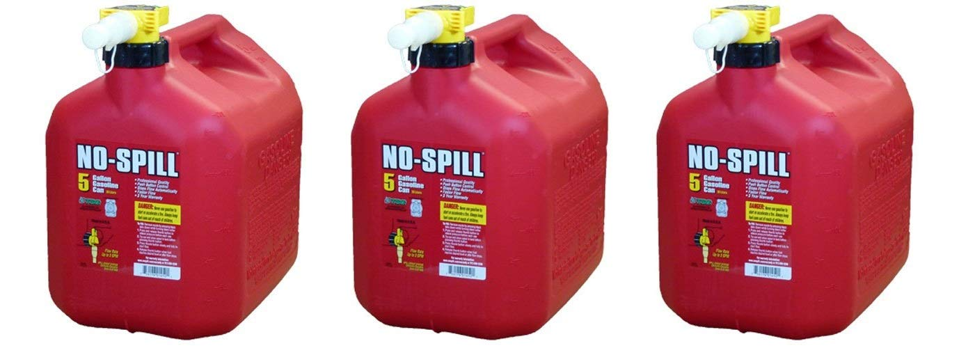No-Spill 1450 5-Gallon Poly Gas Can (CARB Compliant) (Pack of 3)