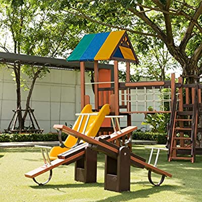 Whewer Swing Set Shade Canopy Cover Swing Set Replacement Tarp Garden Backyard Wood Playset Waterproof Cover Playground Roof Canopy : Garden & Outdoor
