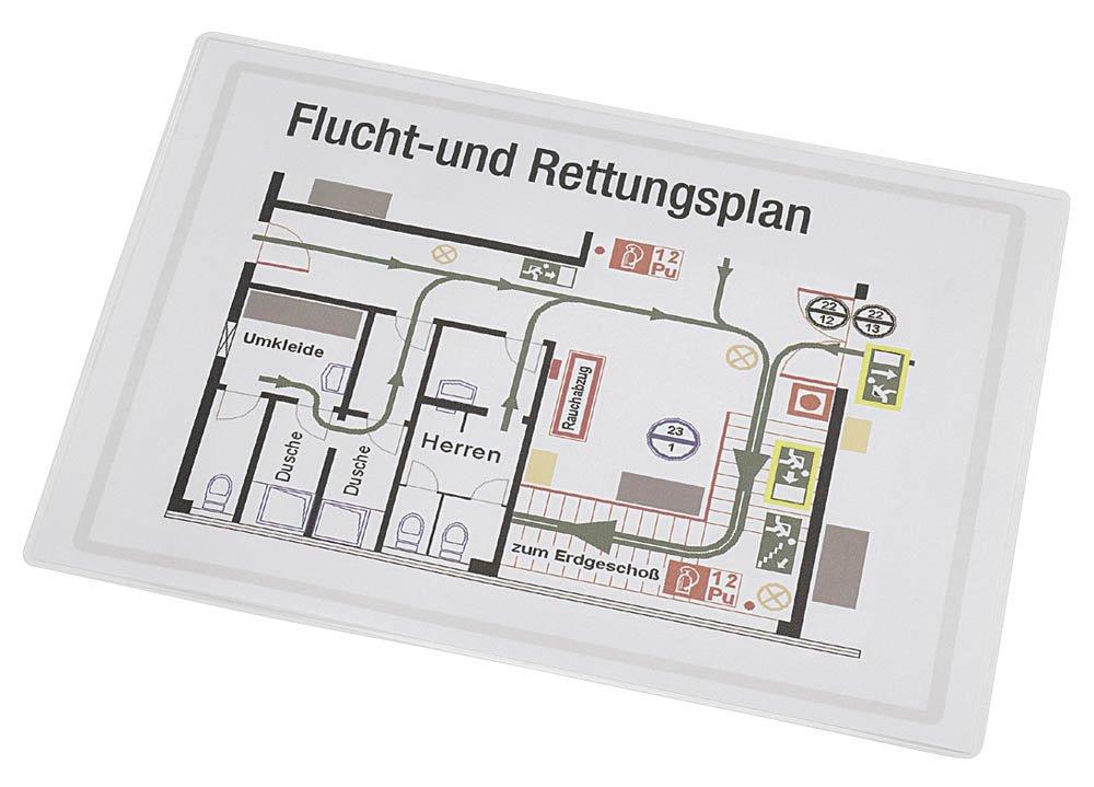 Renz Folientaschen 2 x 125 micron VPE = 25 Stück DIN A3 426 x 303 mm