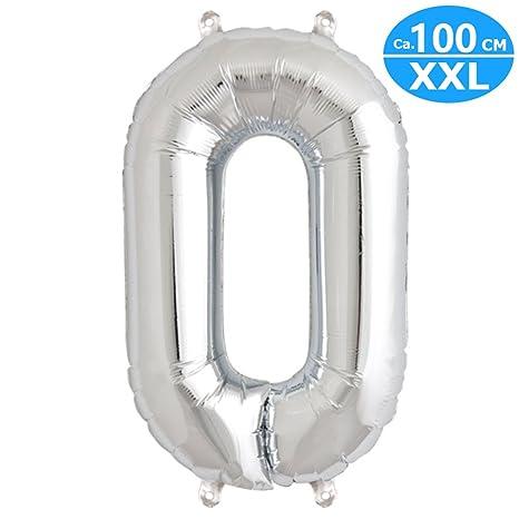 Xxl Foil Ballon Approx 100cm Ballon Numeros En Argent Pour