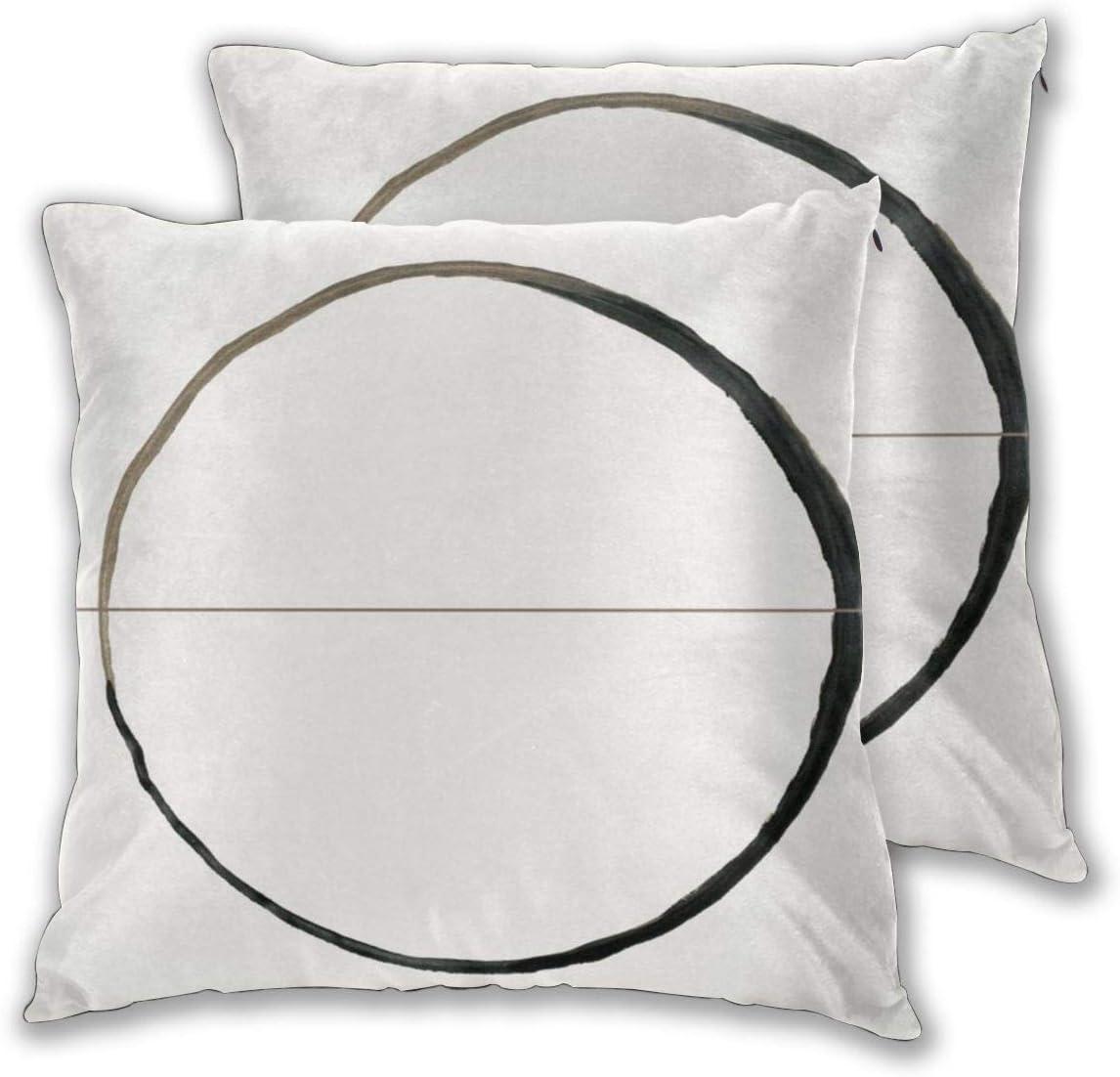 Houlipeng C Rxd Cushion Cover Cotton Home Decorative Square for Sofa Throw Pillow Case 18 x 18 Inch, 45cm x 45cm 2 Pack: Amazon.es: Jardín