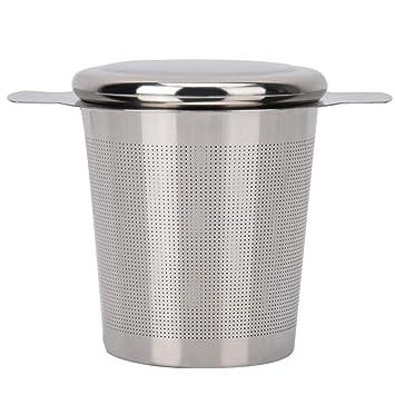 Diyeeni Colador de té de Acero Inoxidable con Tapa y asa ...