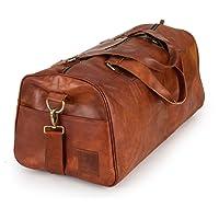 Weekender Berliner Bags Oslo XL Reisetasche aus Leder Handgepäck Qualität Vintage Design Damen Herren Braun Groß 60 cm 45 liter