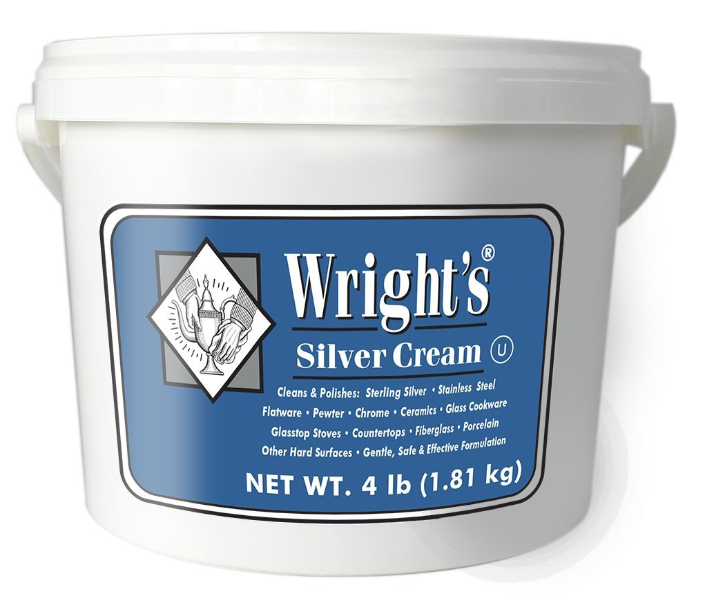 Wright's Silver Cleaner and Polish Cream - 4 Pounds - Ammonia Free - Gently Clean and Remove Tarnish Without Scratching by Wright's (Image #1)