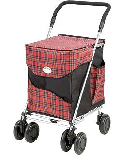 Carro de la compra plegable de lujo Balmoral de Sholley, carrito de la