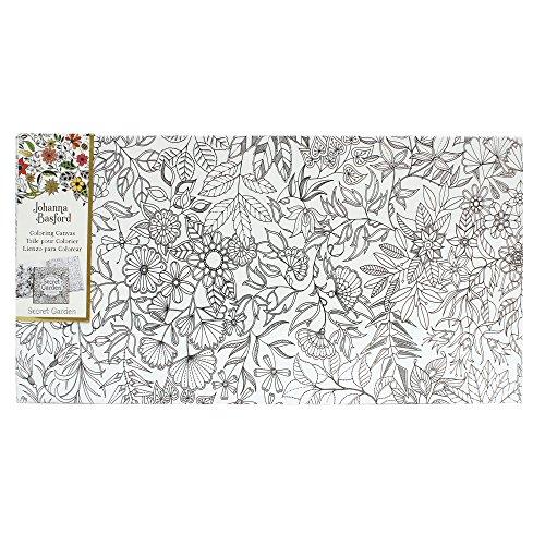 Art Alternatives Johanna Basford Secret Garden Coloring Canvas Floral Landscape,