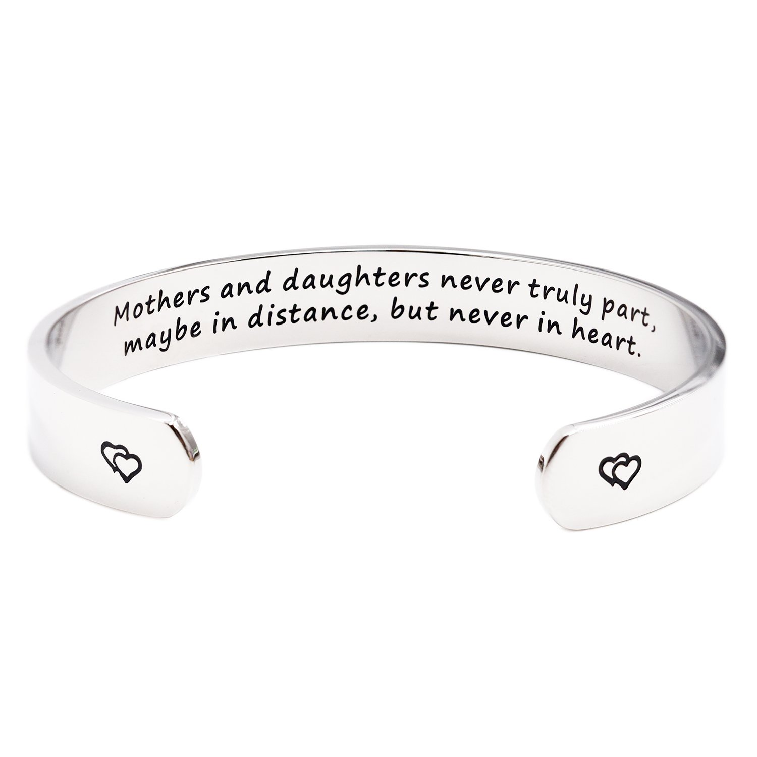 Mothers and Daughters Maybe In Distance But Never Truly Part But Never In Heart Bracelet LParkin B076Q11RCR_US