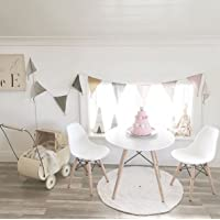 Child Kids Eiffel Inspired White Table & set of 2 white chairs