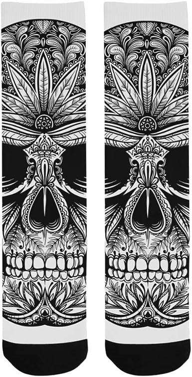 Yushg Cráneo Hueso fresco Espeluznante Tatuaje Poliéster Loco ...
