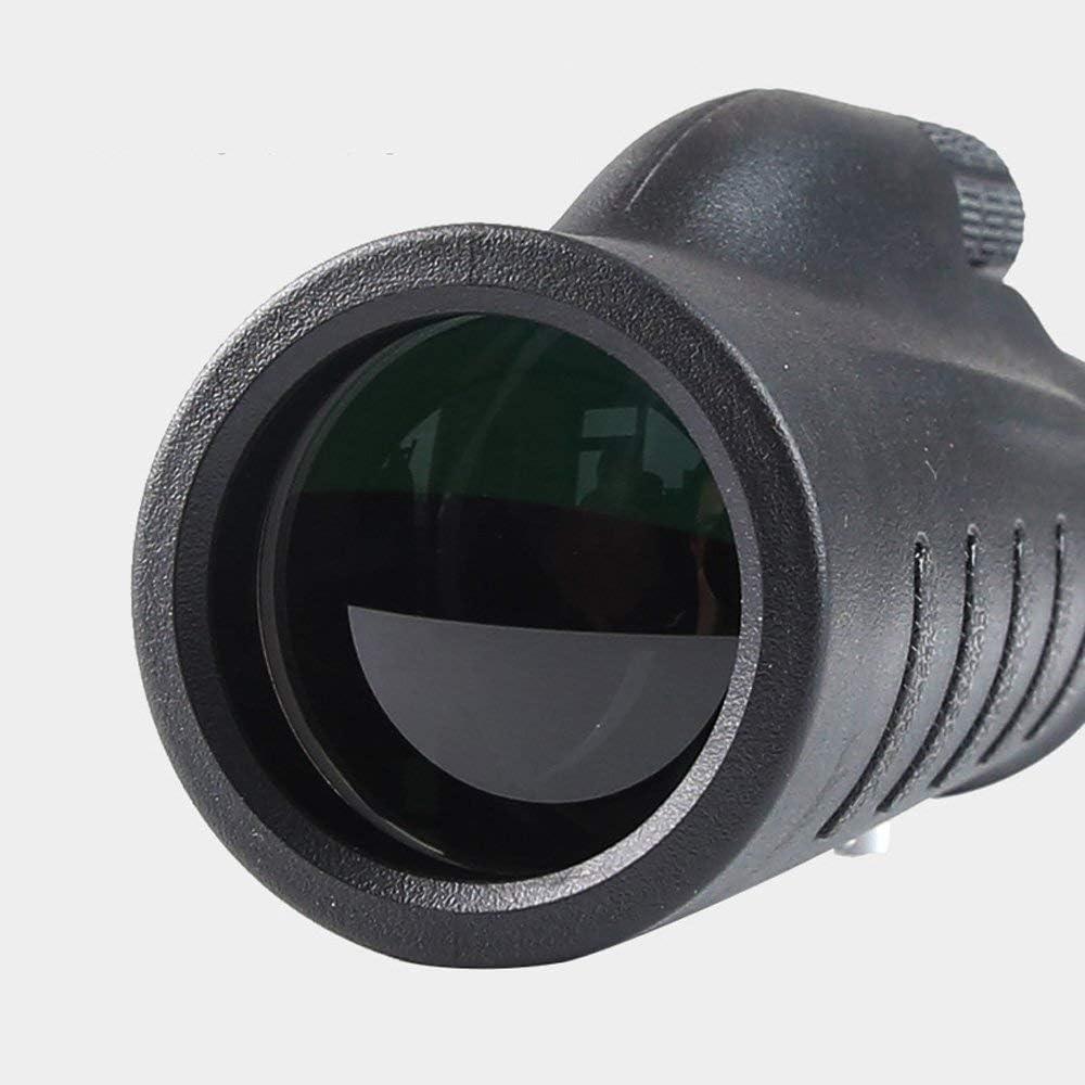 LHQ-Binoculars Handheld Monocular Black Telescopes Hunting 12X50 Telescope High Power HD Night Vision Compact Telescope for Sightseeing Camping and Bird Watching monocular