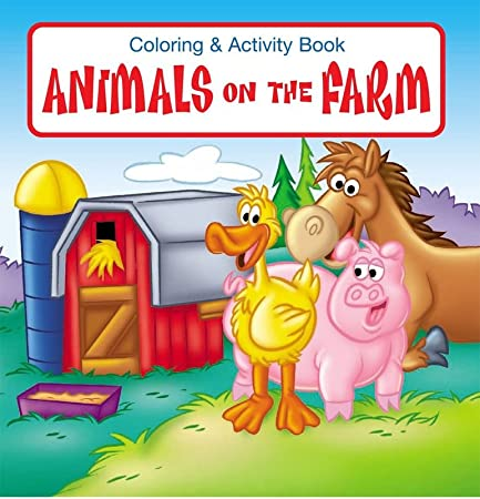 Animals On The Farm Kids Coloring Activity Book In Bulk