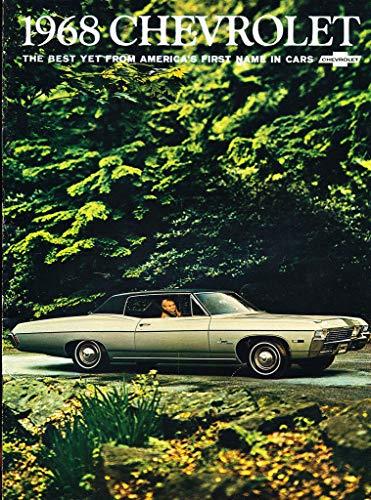 (1968 Chevrolet Caprice Impala SS 28-page Original Car Sales Brochure Catalog - Bel Air Biscayne)