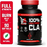 UNALTERED CLA for Weight Loss and Belly Fat - Natural Safflower Oil Softgels - 3000mg - 30 Servings