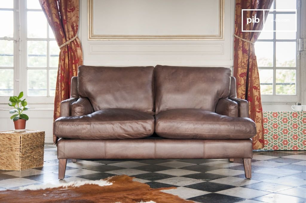 pib - Sofás - Sofá de Cuero Sanary, Un sofá de 2 plazas ...