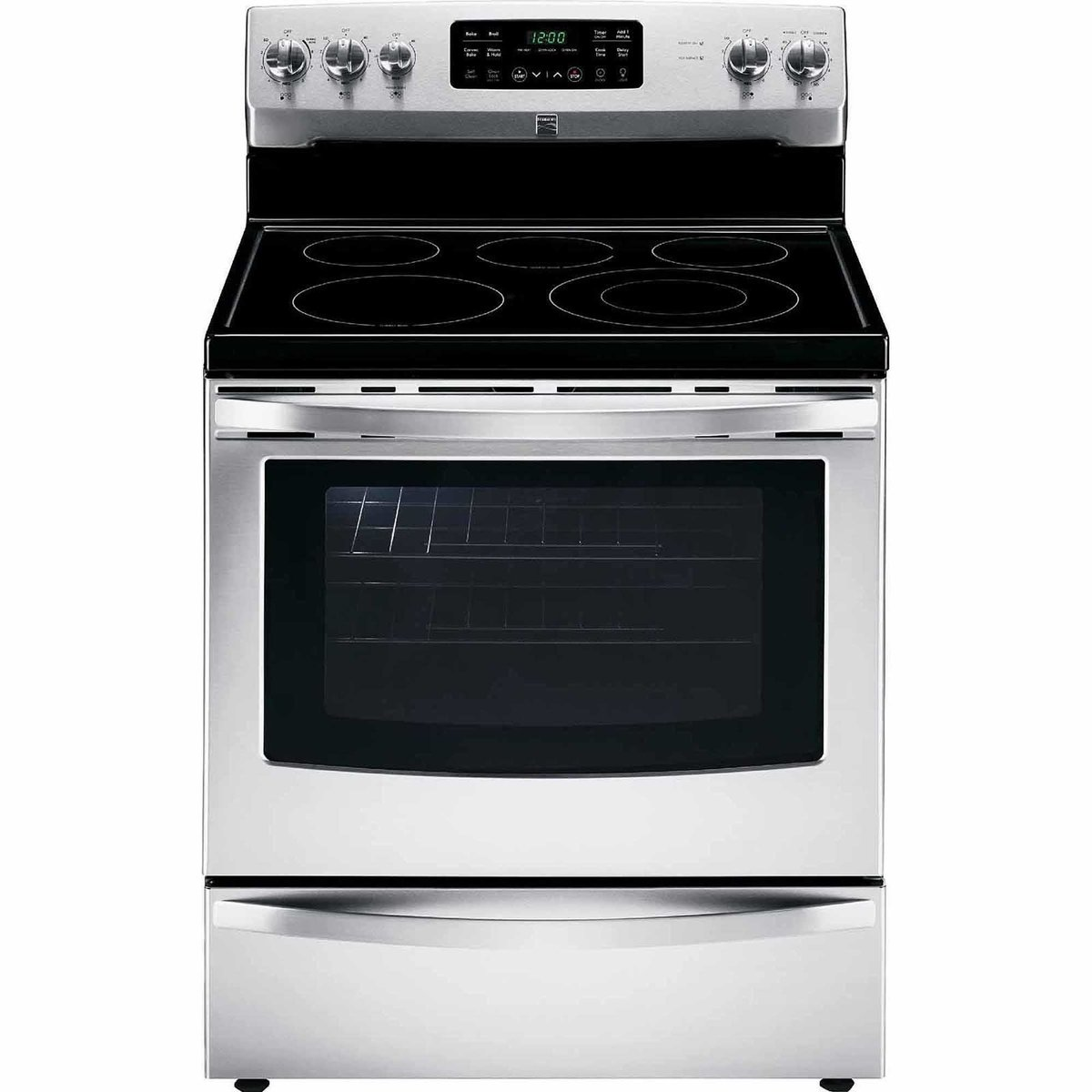 Kenmore 94193 5.4 cu. ft. Self Clean Electric Range with Convection Oven and Turbo Boil Element in Stainless Steel, includes delivery and hookup
