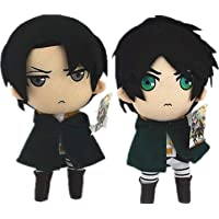 "Attack On Titan Shingeki No Kyojin 12"" Levi/Rivaille & Eren Jaeger Plush Toy Doll Xmas Gift Detazhi"