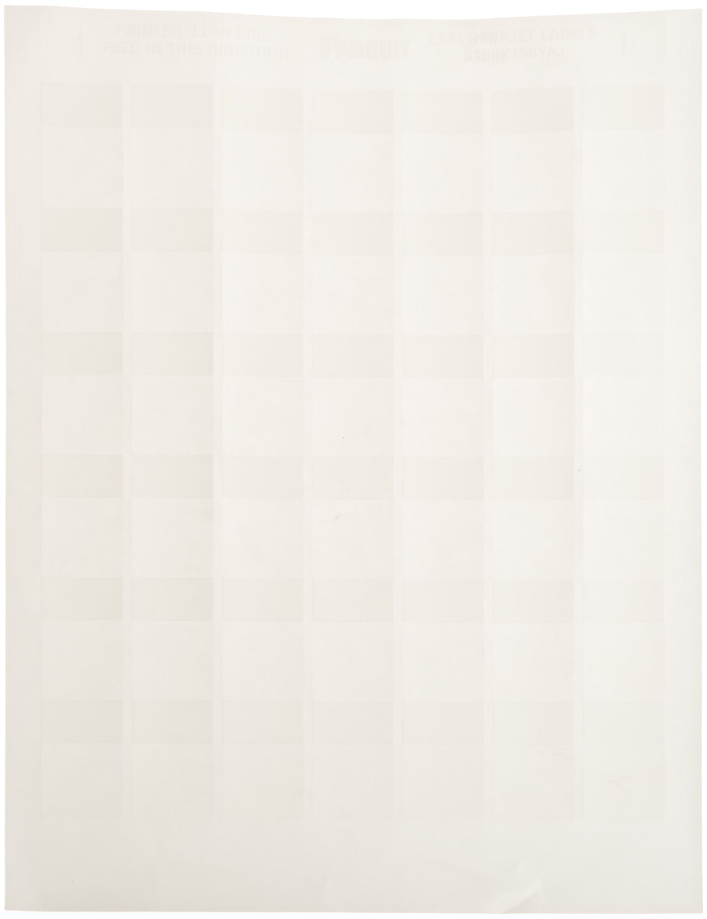 Panduit S100X150YAJ Laser/Inkjet Self-Laminated Label, Polyester, Clear/ White (2,500-Pack)