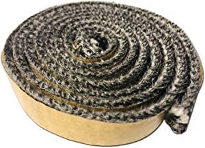 """LavaLock Wood Stove Replacement Gasket for Woodburning Stoves - Graphite Impregnated Fiberglass Gaskets (3/16"""" x 11/16"""" x 54"""" Flat)"""
