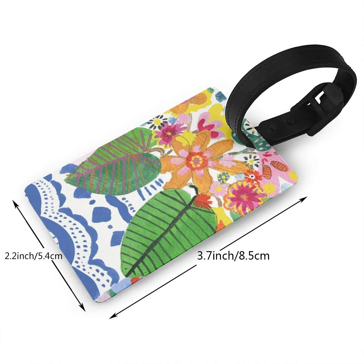 Abstract flower bouquet Luggage Tags Suitcase Labels Bag Travel Accessories Set of 2