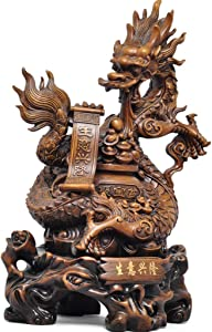 GuanDun Evil Spirits Money Drawing Wealth Fortune Dragon Decoration Feng Shui Dragon Fortune Wealth Xiaolong Office Boss Table Decoration Crafts Company Shop Opening Gifts