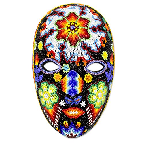 Huichol Mask (NOVICA Decorative Huichol Papier Mache Mask, Multicolor, 'Dance Of The Deer')