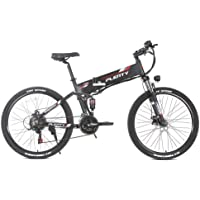 Bicicleta Eléctrica Plegable de 26 Pulgadas 48V 500W, Velocidad Máxima 40KM / H, Bicicleta Eléctrica para Adultos con Pantalla LED +…