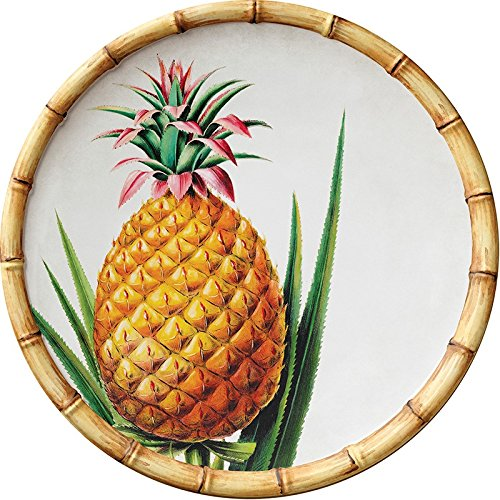 Merritt Botanica Bamboo Pineapple 9-inch Round Melamine Salad Plates, Set of ()
