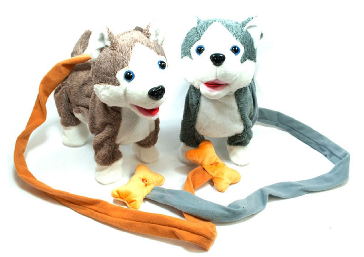 Husky bluee LilPals Live Action Plush Walking Pets Electronic Leash Remote Control (RC) with Music Available in Brown Horse, Dalmatian Dog, Pink Husky, bluee Husky Or Grey Husky