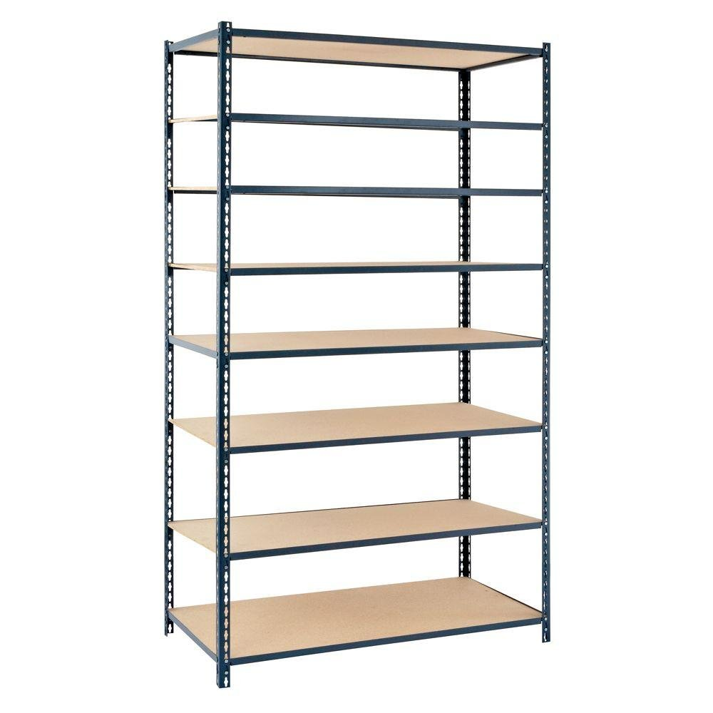 Edsal 8-Shelf Boltless Steel Shelving Unit in Gray | 84 in. H x 48 in. W x 12 in. D by Edsal Product