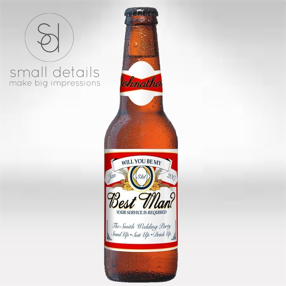 Amazon.com: Will you be my Best Man? Custom Personalized Beer ...