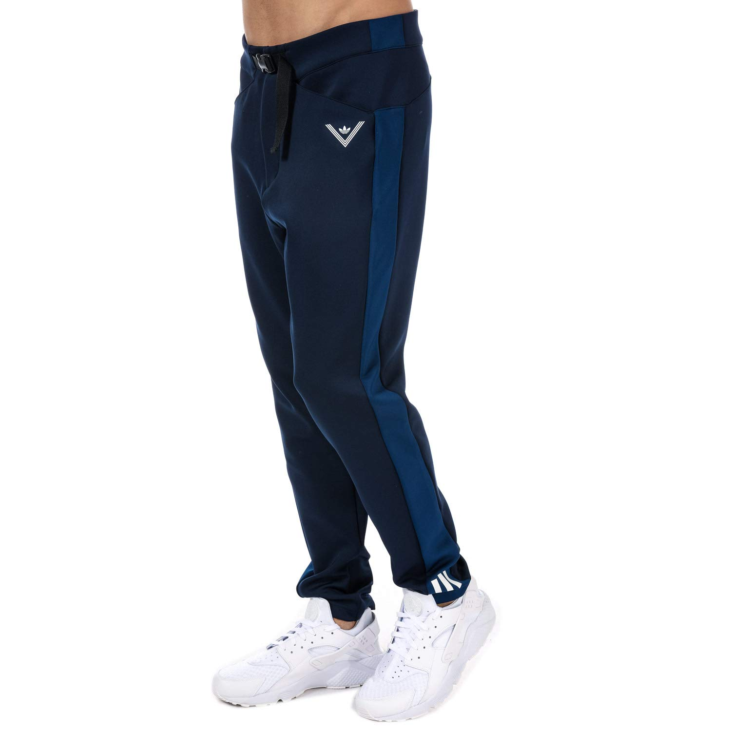 adidas Originals Mens White Mountaineering Track Pants in Navy