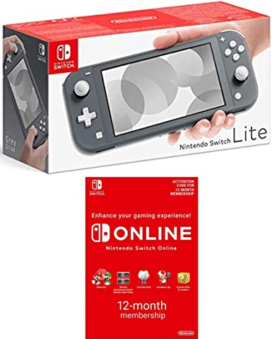 Nintendo Switch Lite Grey Switch Online 12 Months Download Code Amazon Co Uk Pc Video Games