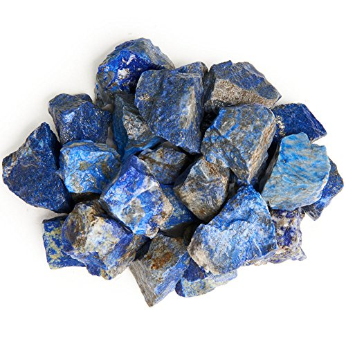 Digging Dolls: 1 lb Lapis Lazuli Rough Rocks from Afghanistan - Raw Natural Stones for Arts, Crafts, Tumbling, Cabbing, Polishing, Wire Wrapping, Gem Mining, Wicca and Reiki Crystal Healing