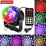 3rd Generation Halloween Party Lights, Led Disco Ball Lights DJ Light Sound Activated Strobe Light 7 Colors Combination Stage Karaoke Lights for Kids Birthday Home Party Club Wedding with Remote